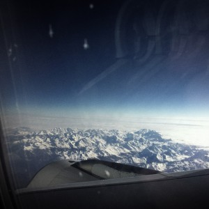 flying over Switzerland
